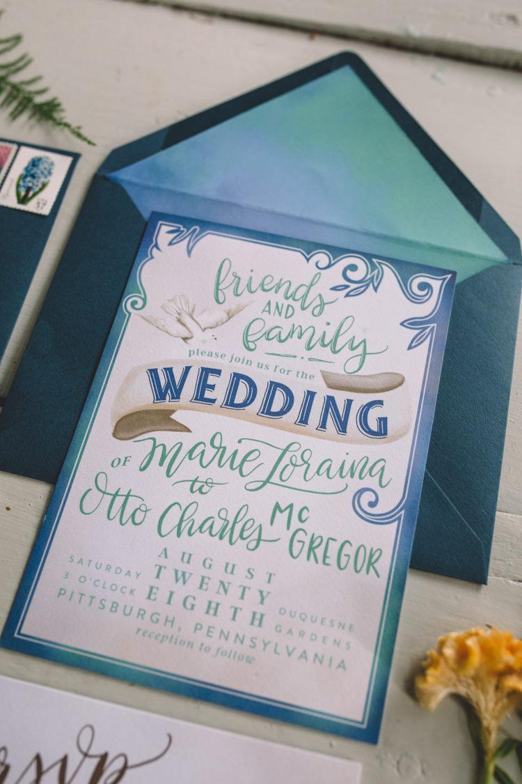 Stationery Invitation Invite Typography Boho Gypsy Vintage Circus Wedding Ideas http://www.oakwoodphotography.com/