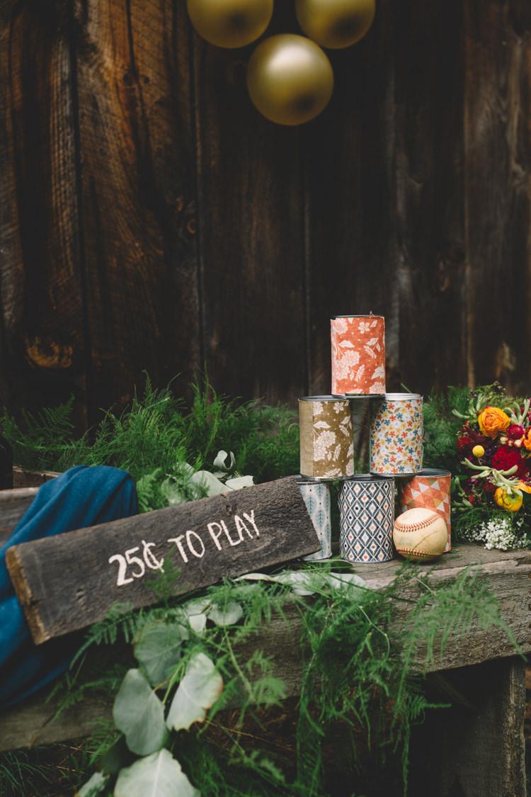 Fete Game Tin Can Boho Gypsy Vintage Circus Wedding Ideas http://www.oakwoodphotography.com/
