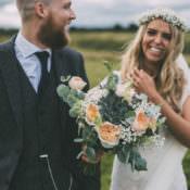 Pretty Peach Country Boho Wedding