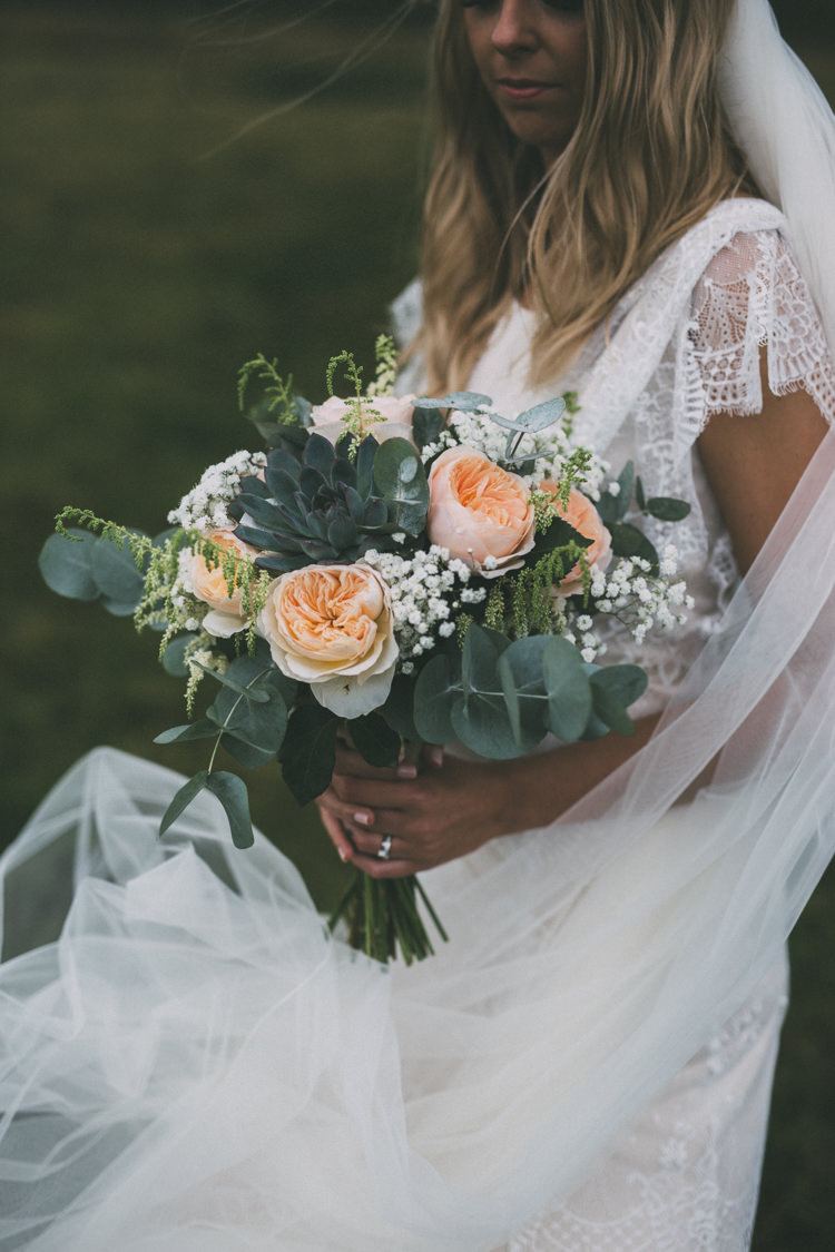 Pretty Peach Boho Wedding http://liamsmithphotography.com/