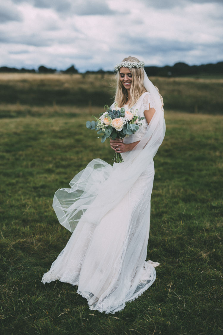 Dress Gown Bride Bridal Belle Bunty Ophelia Pretty Peach Boho Wedding http://liamsmithphotography.com/