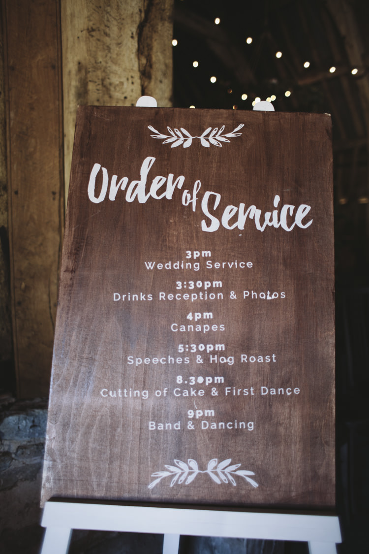 Wooden Sign Calligraphy Rustic Quintessentially English Countryside Wedding http://www.sarahmorris-photography.com/
