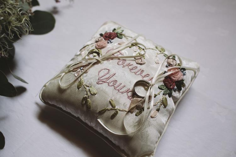 Ring Cushion Rustic Quintessentially English Countryside Wedding http://www.sarahmorris-photography.com/