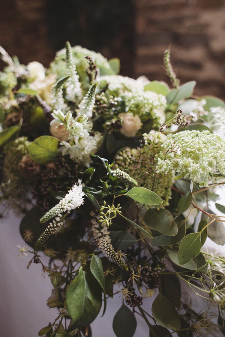 Greenery Foliage Flowers Arrrangement Rustic Quintessentially English Countryside Wedding http://www.sarahmorris-photography.com/