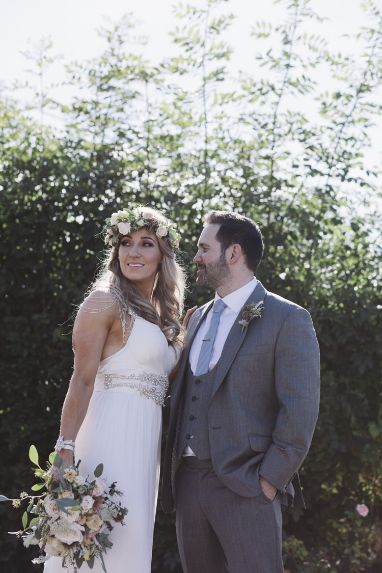 Amy Anna Campbell Dress Gown Bride Bridal Flowing Rustic Quintessentially English Countryside Wedding http://www.sarahmorris-photography.com/