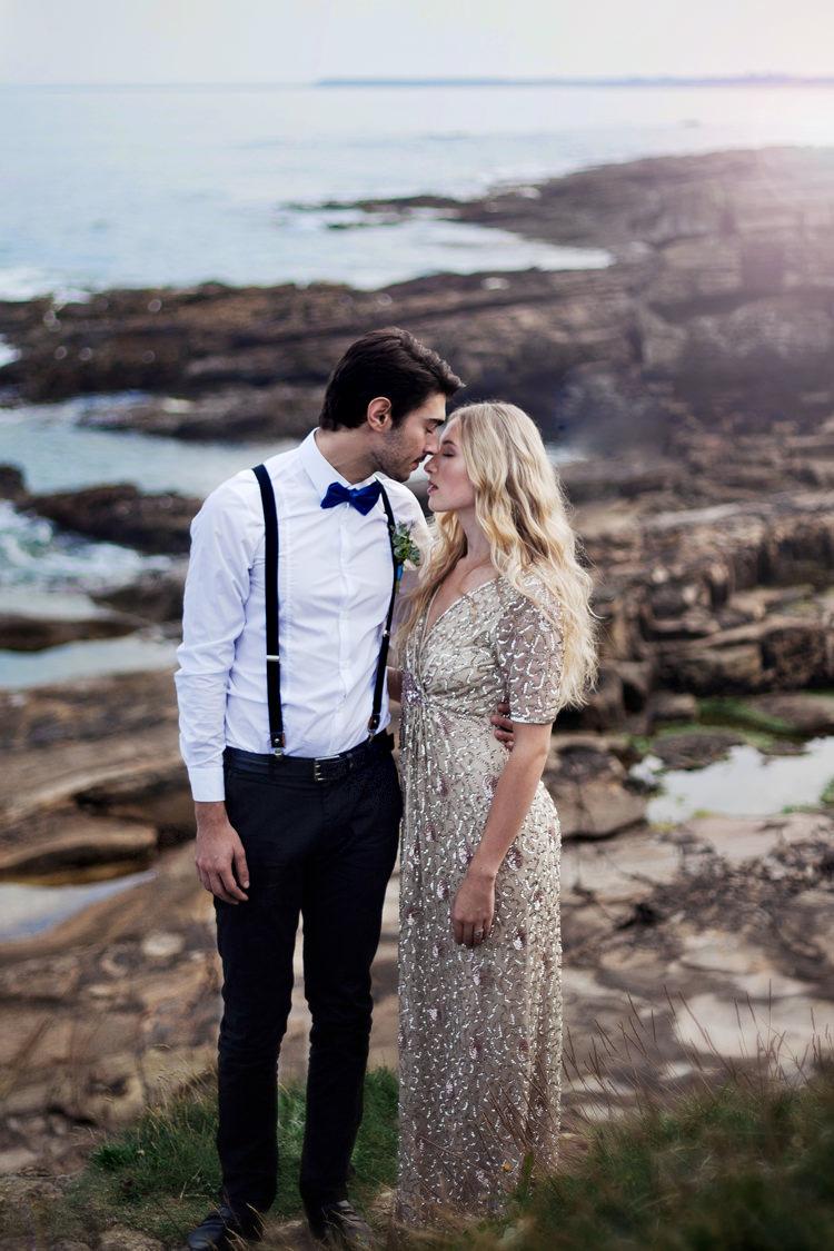 Bow Tie Braces Groom Luxe Bohemian Beach Wedding Ideas http://www.zoeemilie.co.uk/