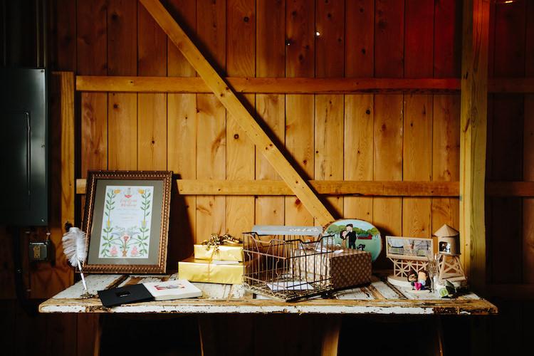 Barn Reception Guest Book Framed Stationery Presents Artwork Art Nouveau Autumn Burgundy Wedding http://www.jbonadiophoto.com/