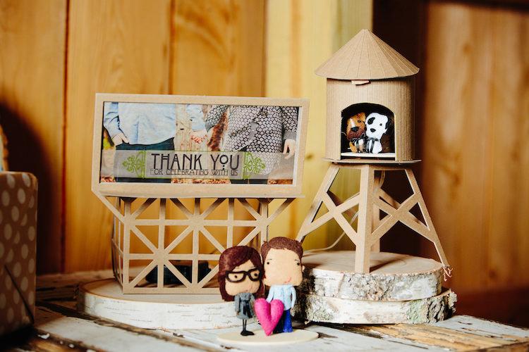 Wooden Art Thank you Sign Figurines Art Nouveau Autumn Burgundy Wedding http://www.jbonadiophoto.com/