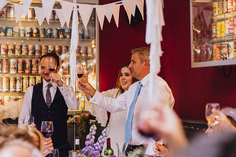 Minimalist City 1970s East London Pub Wedding http://www.curiousrosephotography.com/