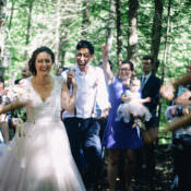 Woodland Waterfall Mint Wedding in Ontario