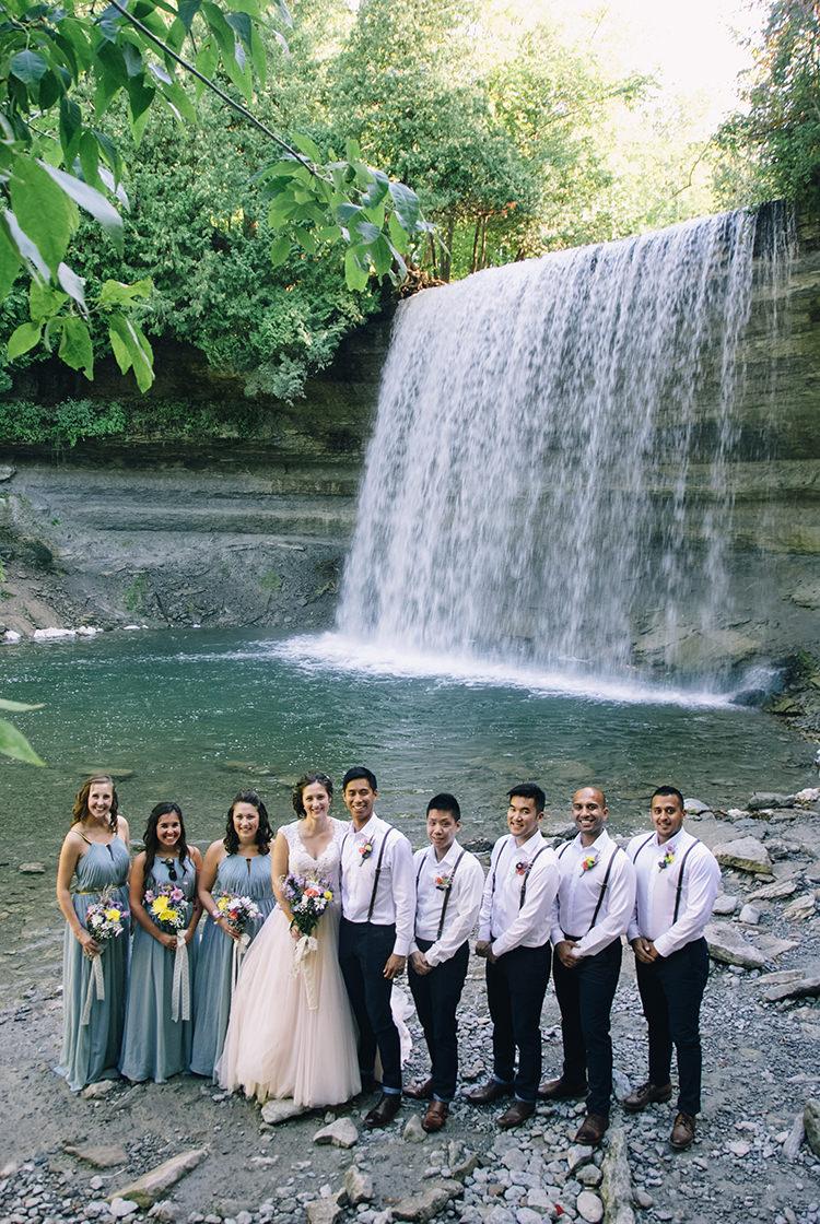 Woodland Waterfall Mint Wedding Ontario http://www.laurenmccormickphotography.com/