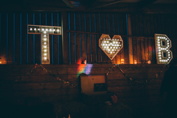 Letter Lights Crafty Country Rustic Wedding http://www.naomijanephotography.com/