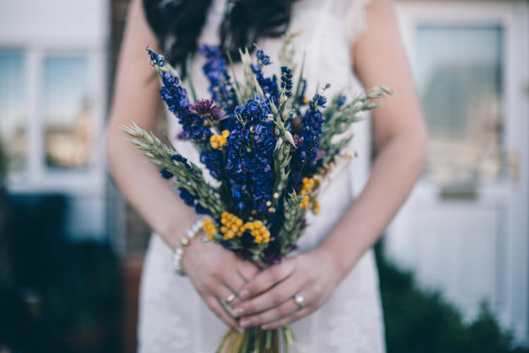Dried Flower Bouquet Bride Bridal Crafty Country Rustic Wedding http://www.naomijanephotography.com/