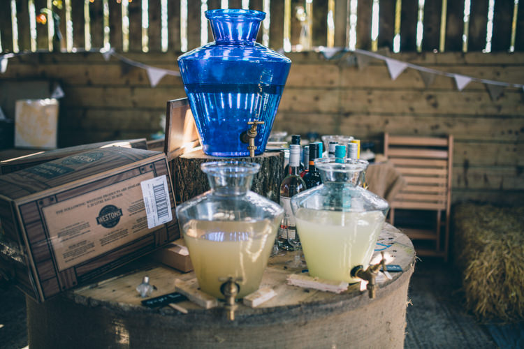 Drink Dispenser Station Bar Crafty Country Rustic Wedding http://www.naomijanephotography.com/