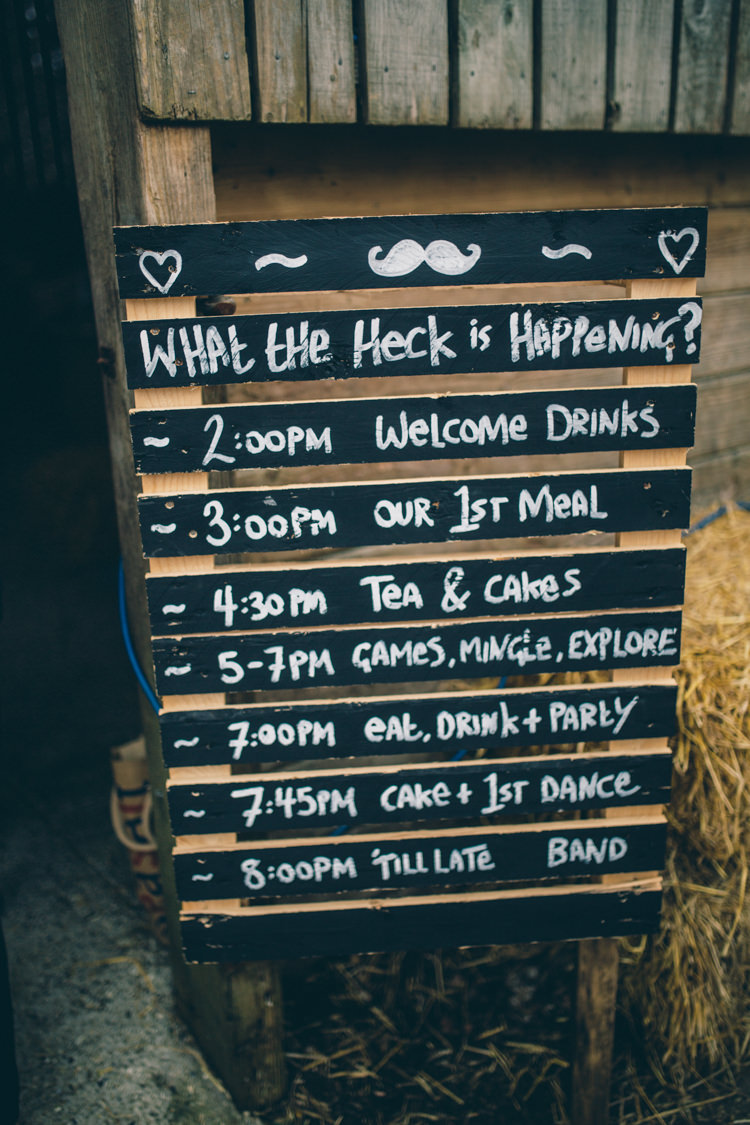 Pallet Wooden Sign Black Chalk Board Crafty Country Rustic Wedding http://www.naomijanephotography.com/