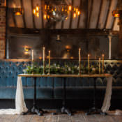 Blue & Gold Luxe Victorian Wedding Ideas