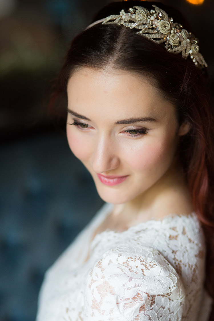 Pretty Pink Peach Make Up Beauty Bride Bridal Blue Gold Luxe Victorian Wedding Ideas http://www.francescarlisle.co.uk/