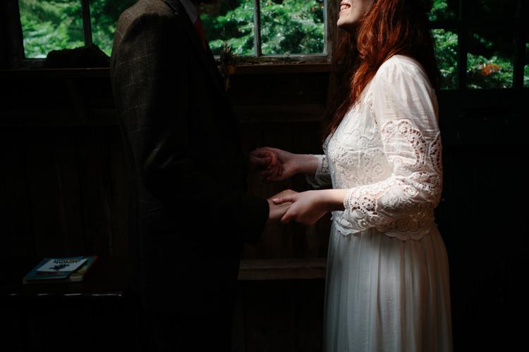 Crochet Dress Sleeves Bride Bridal Intimate Outdoor Scotland Wedding http://www.caroweiss.com/