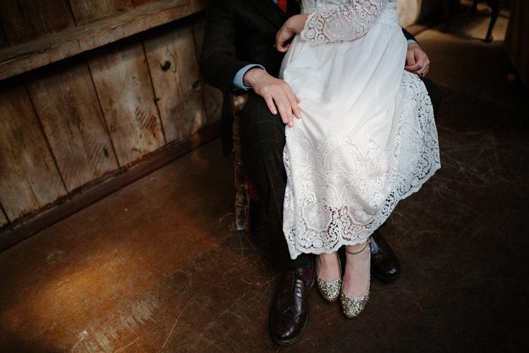 Crochet Dress Bride Bridal Gown Intimate Outdoor Scotland Wedding http://www.caroweiss.com/