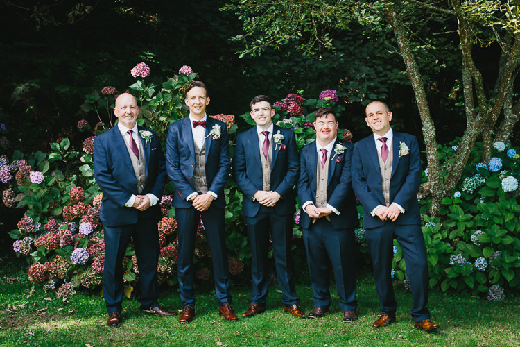 Groom Groomsmen Navy Suits Tan Shoes Red Tie Bow Bohemian Outdoor Country Wedding https://www.alexapoppeweddingphotography.com/