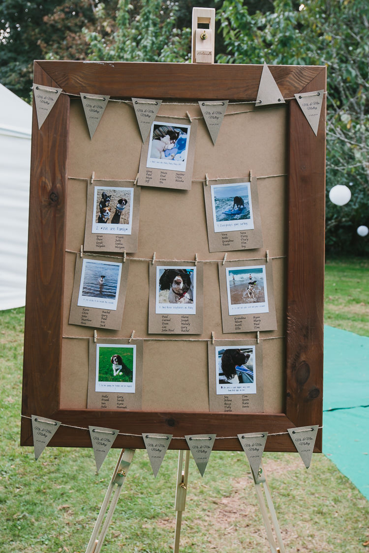 Craft Kraft Brown Paper Bunting Seating Plan Table Chart Photo Bohemian Outdoor Country Wedding https://www.alexapoppeweddingphotography.com/