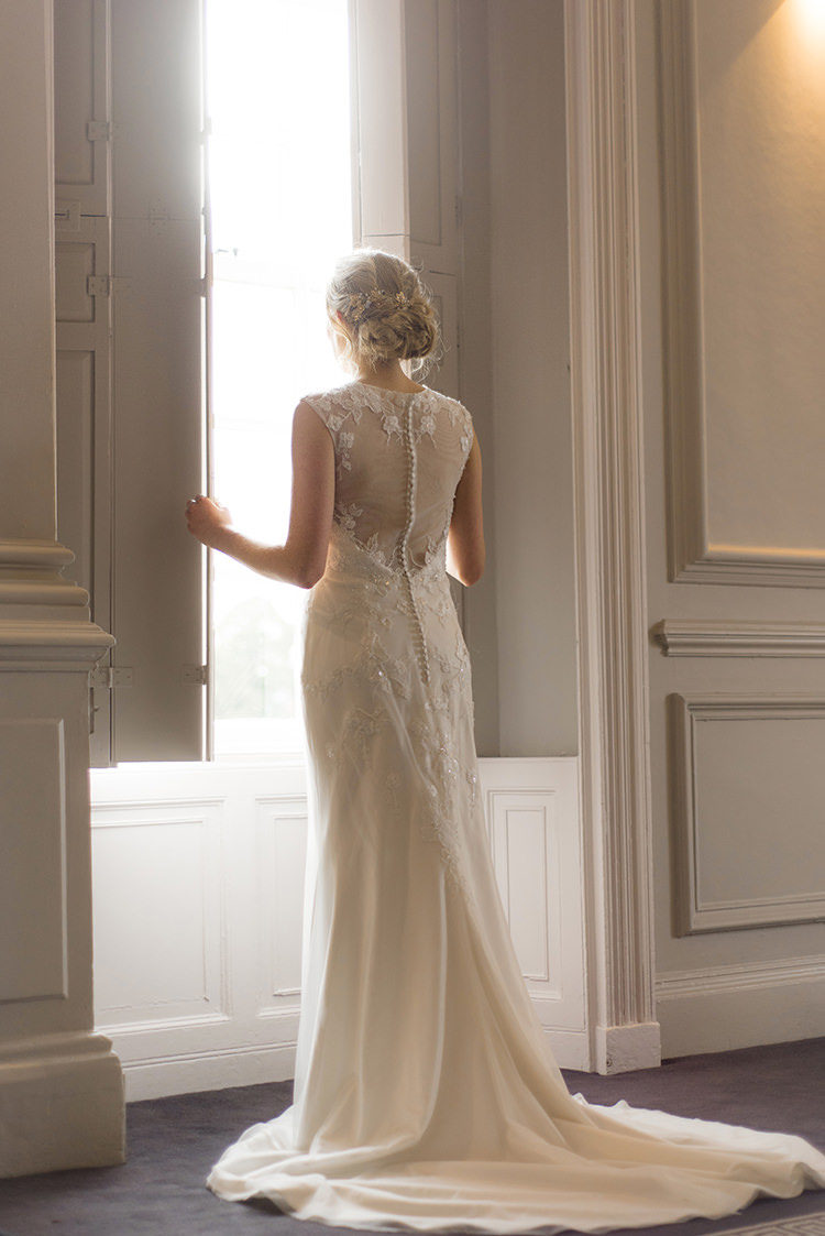 Illusion Back Dress Bride Bridal Gown Greenery Fine Art Botanical Wedding Ideas http://georginaharrisonphotography.co.uk/