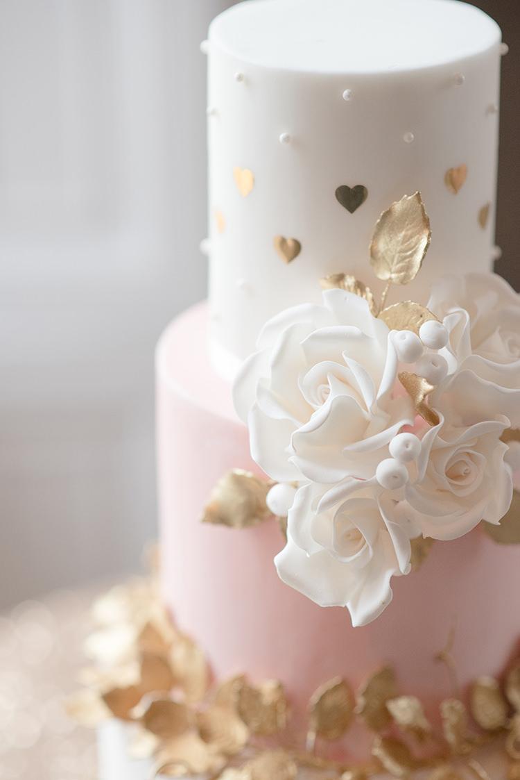 Pink Gold Heart Cake Flowers Greenery Fine Art Botanical Wedding Ideas http://georginaharrisonphotography.co.uk/