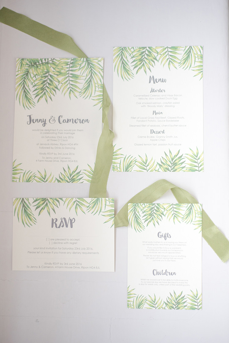 Tropical Stationery Invitations Greenery Fine Art Botanical Wedding Ideas http://georginaharrisonphotography.co.uk/