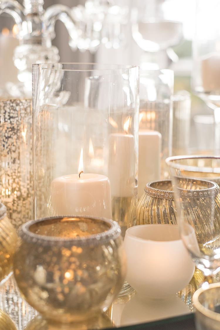 Gold Candles Decor Table Greenery Fine Art Botanical Wedding Ideas http://georginaharrisonphotography.co.uk/