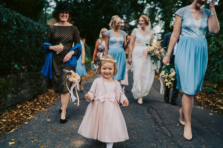 Flower Girl Bow Dress Cardigan Wand Fun Home Made Countryside Village Wedding http://willfullerphotography.com/