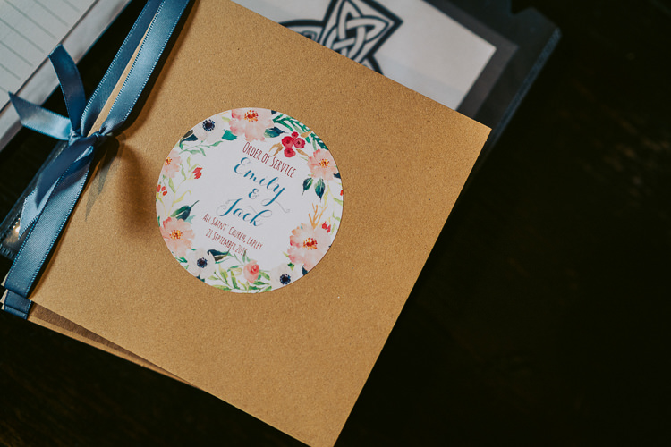 Stationery Order Service Kraft Brown Paper Floral Flower Ribbon Fun Home Made Countryside Village Wedding http://willfullerphotography.com/