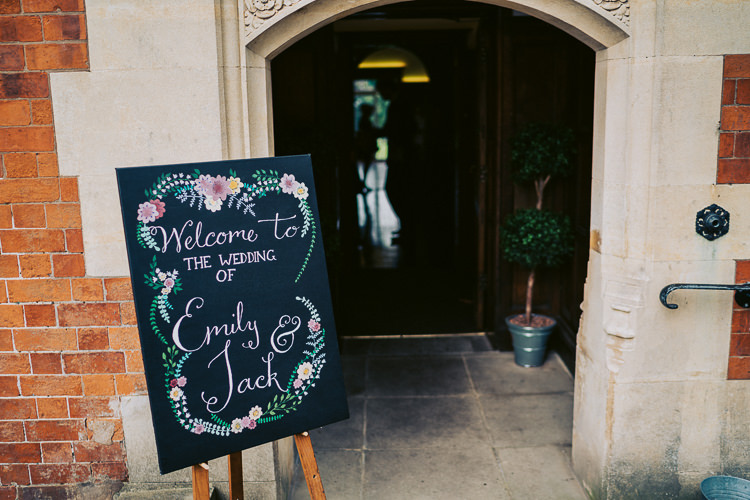 Floral Chalk Board Black Sign Welcome Fun Home Made Countryside Village Wedding http://willfullerphotography.com/