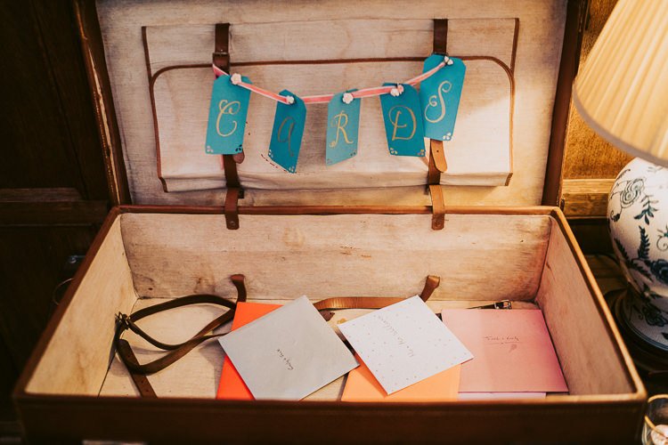 Card Suitcase Fun Home Made Countryside Village Wedding http://willfullerphotography.com/