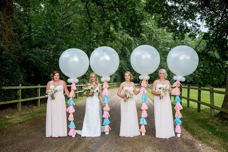 Pink Bridesmaid Dresses Romantic Summer Country Blush Wedding http://katherineashdown.co.uk/