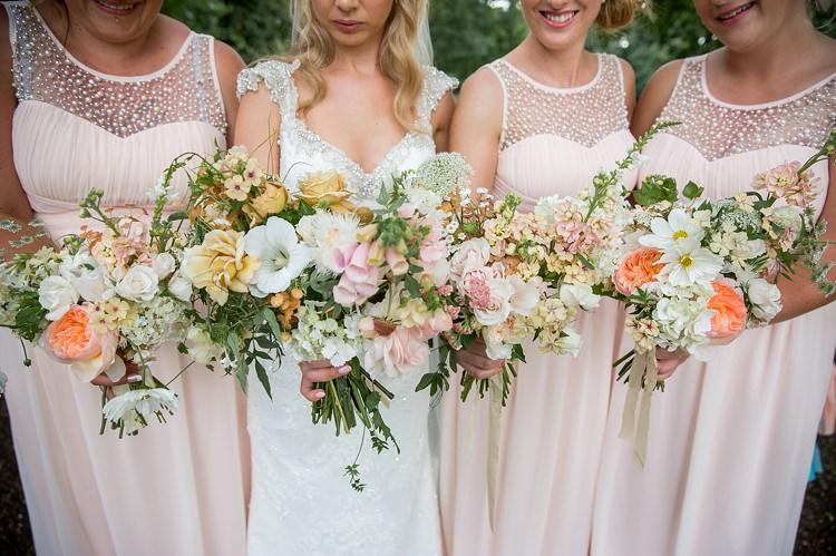 Dahlia Rose Bouquet Flowers White Ivory Bride Bridal Foxgloves Bridesmaids Romantic Summer Country Blush Wedding http://katherineashdown.co.uk/