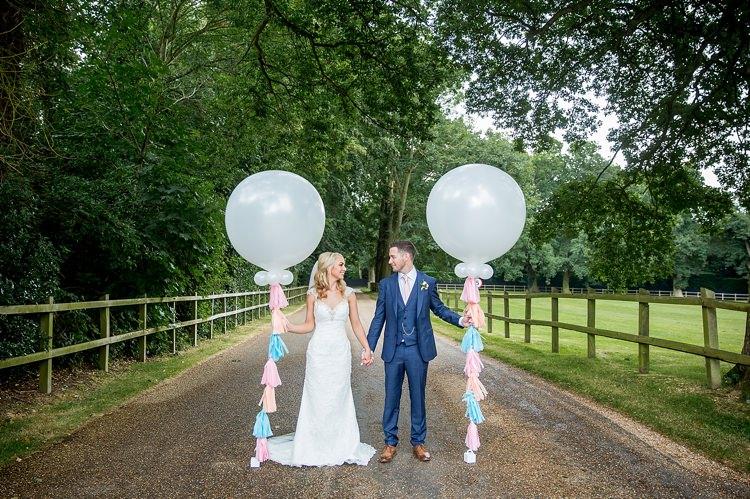 Giant Balloons Tassel Romantic Summer Country Blush Wedding http://katherineashdown.co.uk/