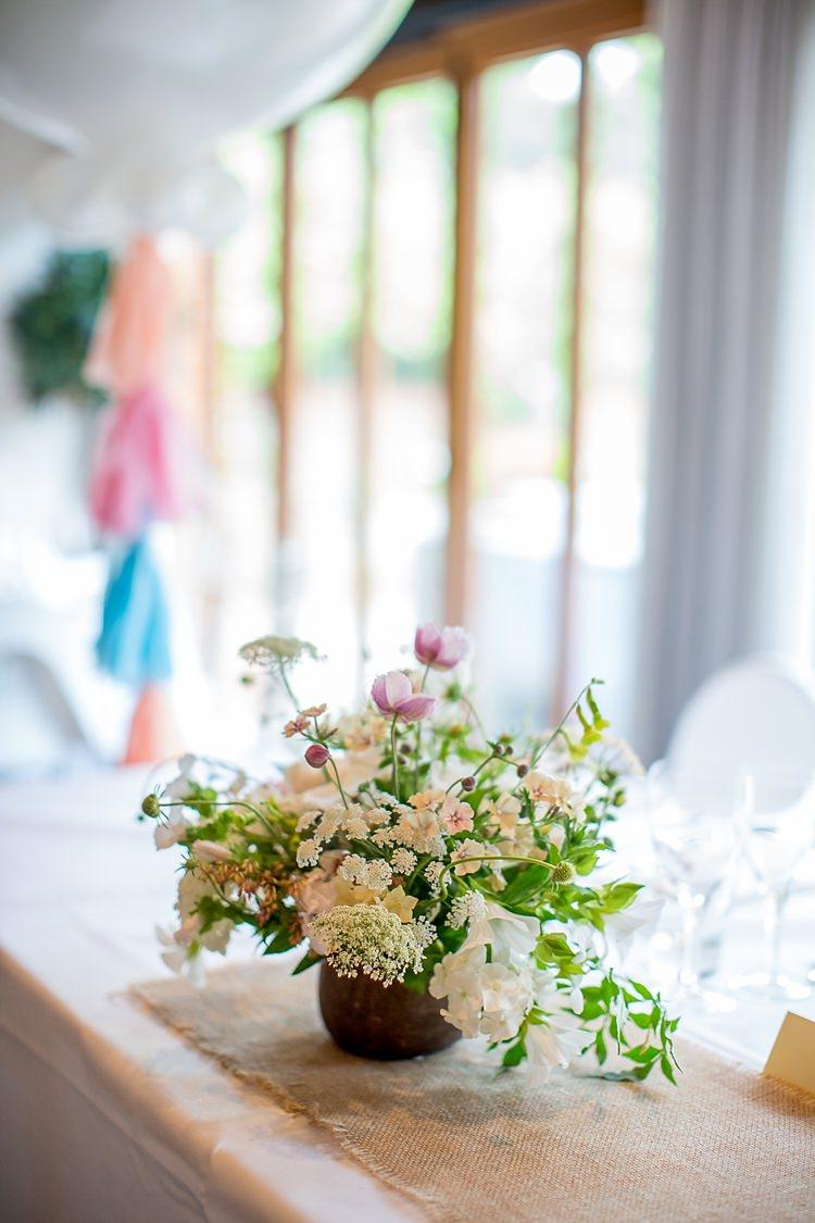 RoseFlowers White Ivory Greenery Decor Decoration Romantic Summer Country Blush Wedding http://katherineashdown.co.uk/