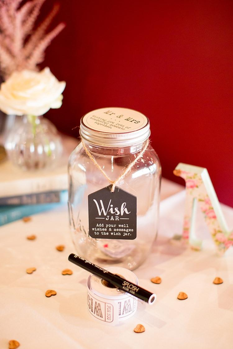 Wish Jar Guest Book Romantic Summer Country Blush Wedding http://katherineashdown.co.uk/
