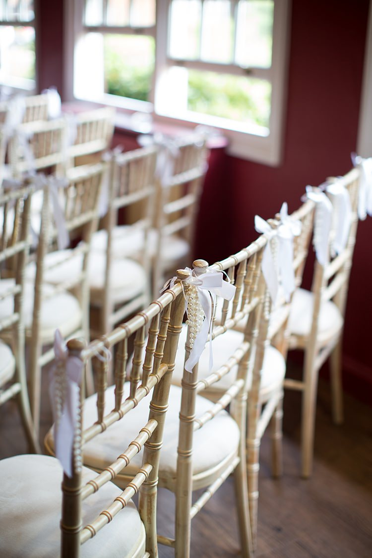 Chair Ribbons Decoration Romantic Summer Country Blush Wedding http://katherineashdown.co.uk/