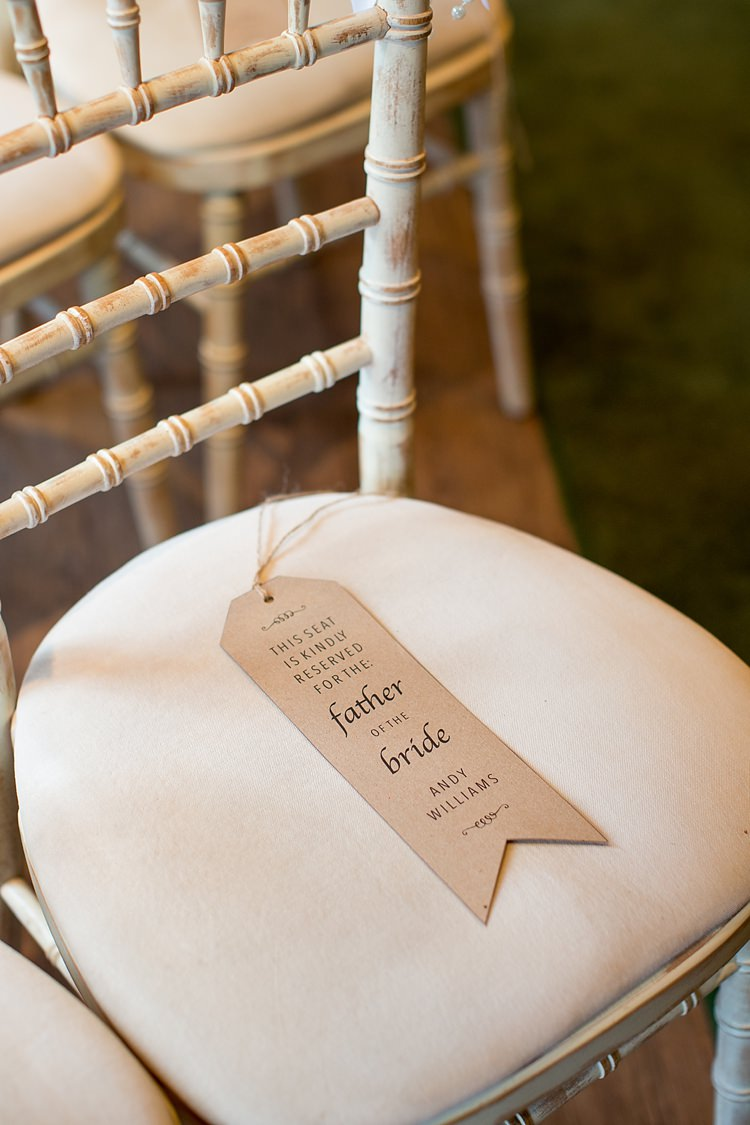 Luggage Tag Seat Names Ceremony Reserved Romantic Summer Country Blush Wedding http://katherineashdown.co.uk/