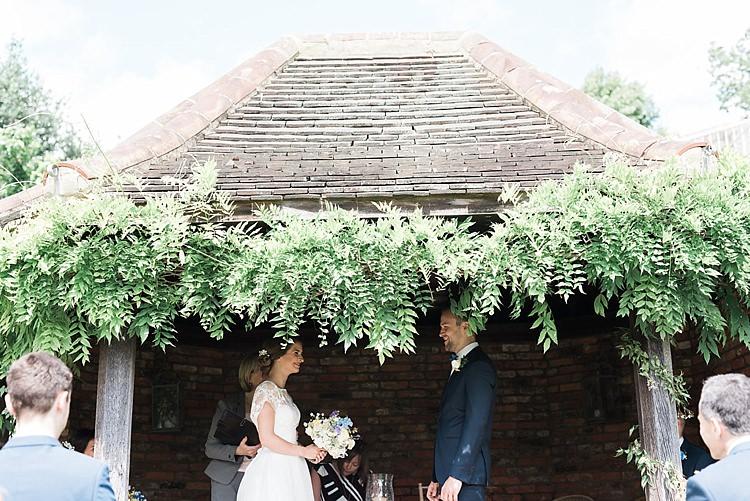 Outdoor Gazebo Ceremony Chic Natural Garden Wedding http://www.folegaphotography.co.uk/