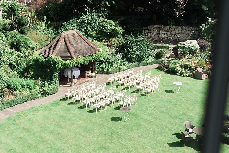Outdoor Ceremony York UK Chic Natural Garden Wedding http://www.folegaphotography.co.uk/