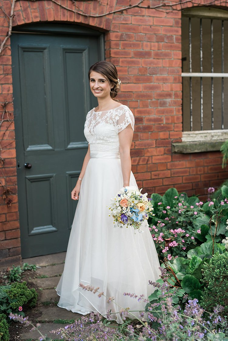 Bridal Skirt Top Lace Sash Dipped Hem Gown Dress Bride Seperates Chic Natural Garden Wedding http://www.folegaphotography.co.uk/