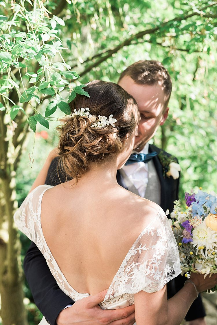 Hair Bride Bridal Style Up Do Flowers Chic Natural Garden Wedding http://www.folegaphotography.co.uk/