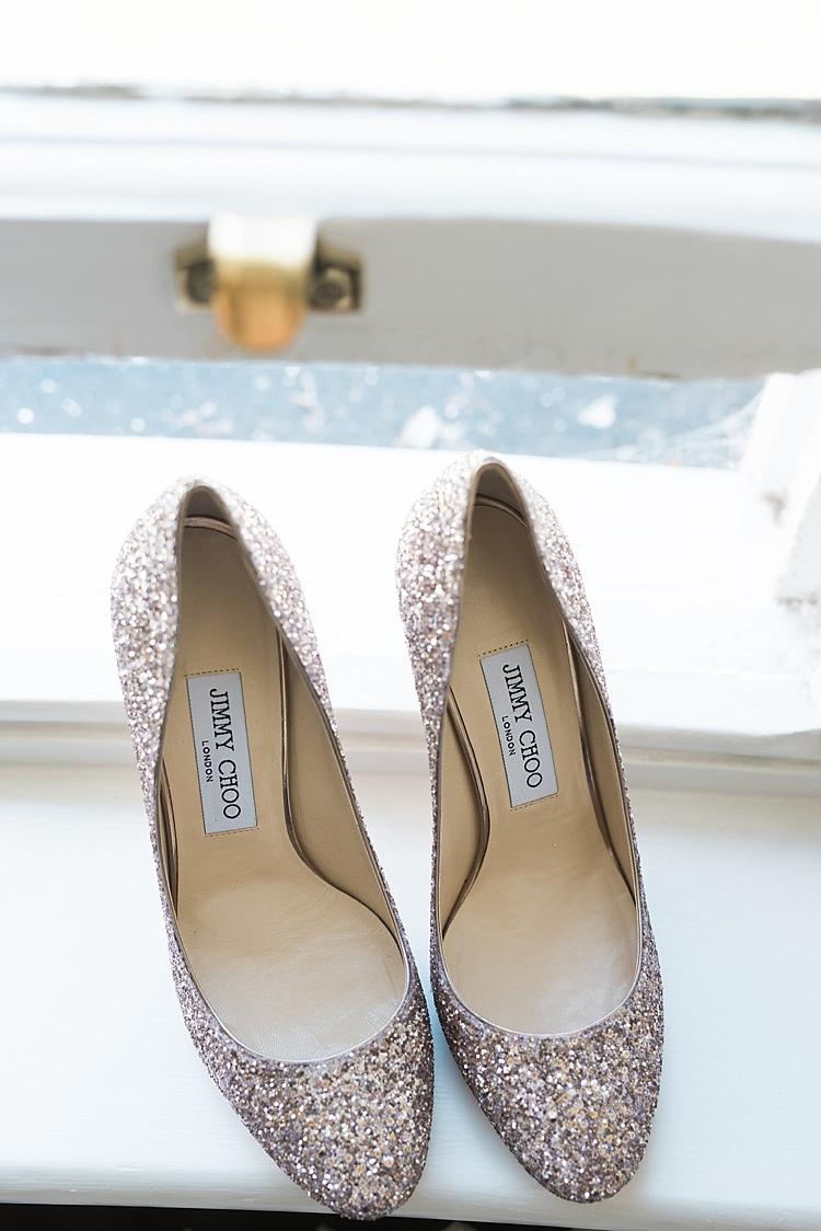 Jimmy Choo Glitter Sparkle Heels Shoes Bride Bridal Chic Natural Garden Wedding http://www.folegaphotography.co.uk/