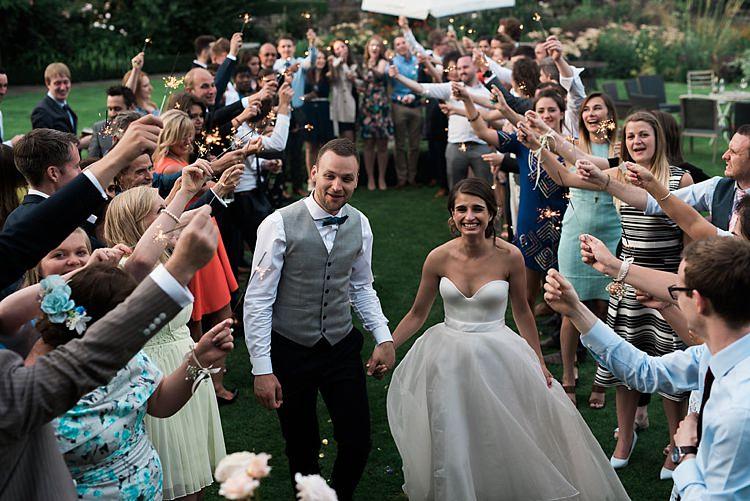 Sparklers Chic Natural Garden Wedding http://www.folegaphotography.co.uk/