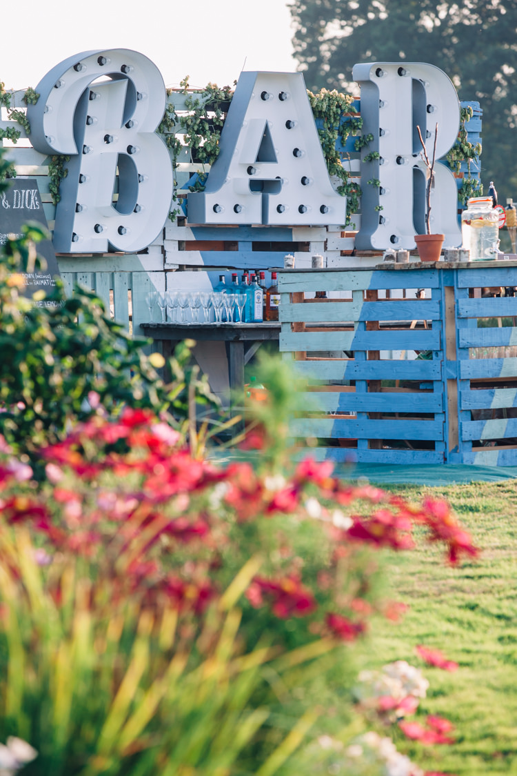 Bar Outdoor Seaside Country Farm Pale Blue Marquee Wedding http://loveandadventures.co.uk/