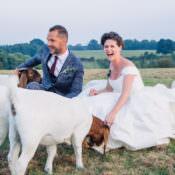 Seaside Country Farm Pale Blue Marquee Wedding