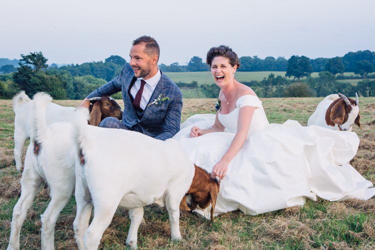 Goats Seaside Country Farm Pale Blue Marquee Wedding http://loveandadventures.co.uk/