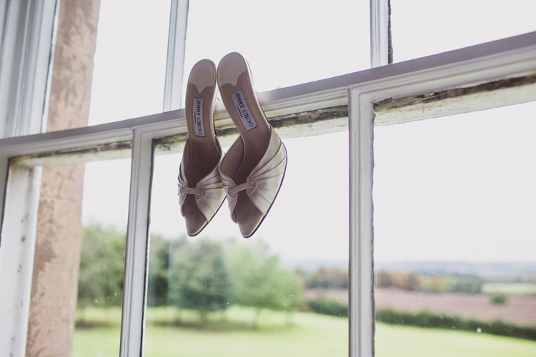 Jimmy Choo Shoes Bride Bridal Relaxed Autumnal Child Friendly Wedding http://kathrynedwardsphotography.com/